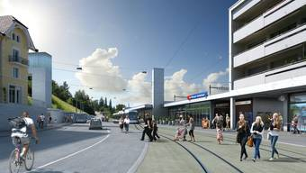 Bis Spreitenbach wird die Limmattalbahn erstellt. Der Kanton will jetzt bis Baden weiterbauen.