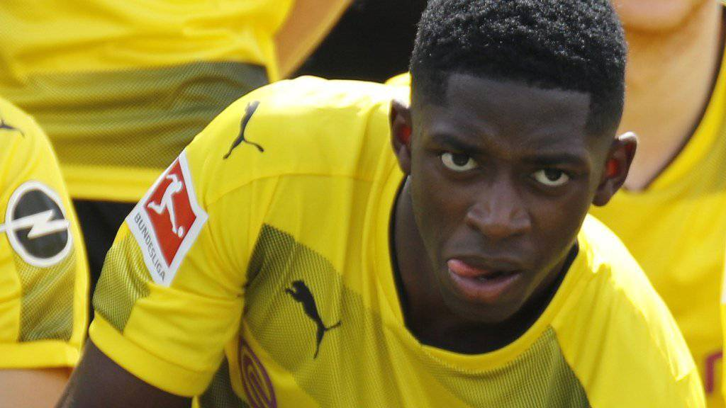 Für das Teamfoto von Borussia Dortmund hat er noch posiert: Ousmane Dembélé