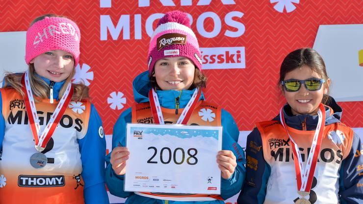 Nina Hunziker (Jahrgang 2008) aus Selzach fuhr auf den zweiten Platz.