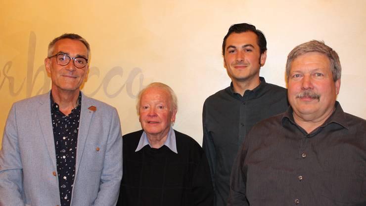 Die zurückgetretenen Funktionäre Ruedi Rickenbacher, Werner Kämpf, Fabrizio Campigotta und Urs Leuenberger