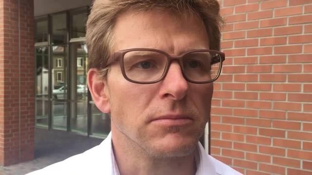 Balthasar Thalmann erklärt, was beim  ehemaligen Madag-Areal das Problem ist