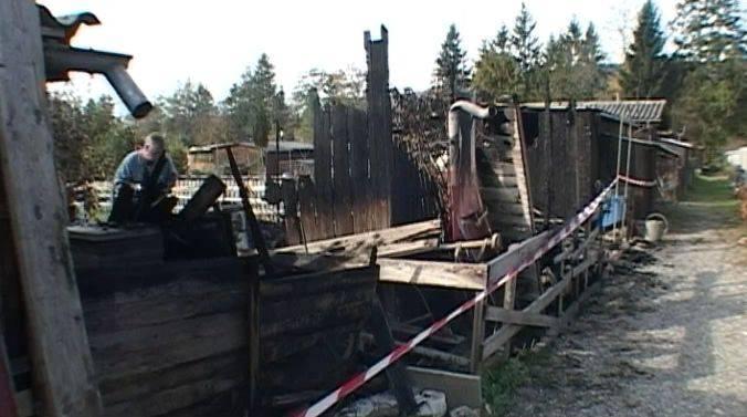 Schrebergartenhäuschen in Windisch abgebrannt