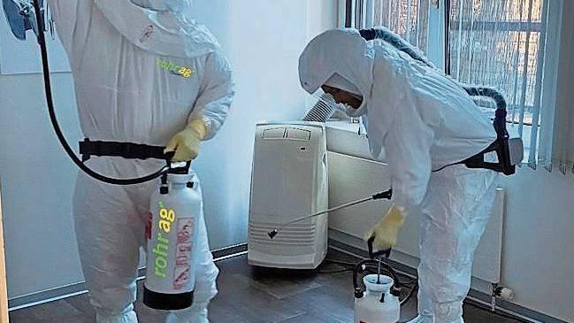 Desinfektionsaufträge nehmen in der Krise zu.
