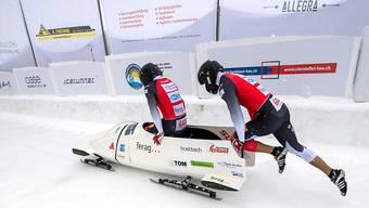 Hoffnung auf eine bessere Schweizer Zukunft im Bobsport: Michael Vogt und Sandro Michel an den letztjährigen Schweizer Meisterschaften