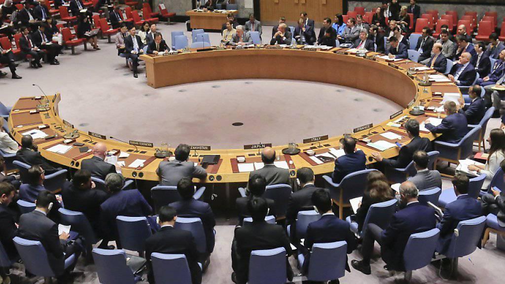 Der UNO-Sicherheitsrat beschliesst neue Wirtschaftssanktionen gegen Nordkorea. (Archivbild)