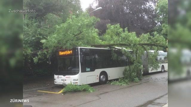 Grosser Schaden nach Gewitter