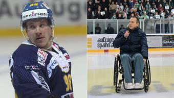 Stefan Schnyder (links) wird nun bereits zum dritten Mal freigesprochen. Der EHCO-Spieler Ronny Keller war nach einem Check mit dem Langenthaler Eishockeyaner kopfvoran in die Bande geknallt. Seither ist er querschnittsgelähmt.