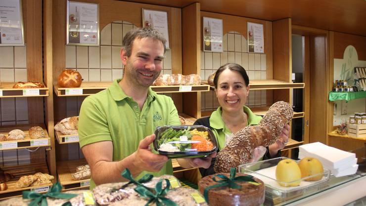 Daniel Haas und Marina Fäs von der Bäckerei Haas.