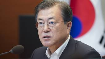 Südkoreas Präsident Moon Jae In. Foto: -/YNA/dpa