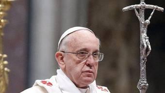 Papst Franziskus feiert die Neujahrsmesse