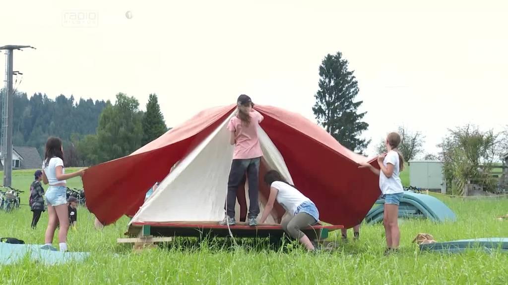 Zwischen Freude und kommendem Gewitter: So ist das Kantonslager gestartet