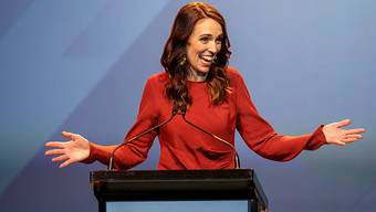 New Zealand Prime Minister Jacinda Ardern speaking during the New Zealand Labour party election night event in Auckland, Saturday, October 17, 2020. (AAP Image/David Rowland) NO ARCHIVING