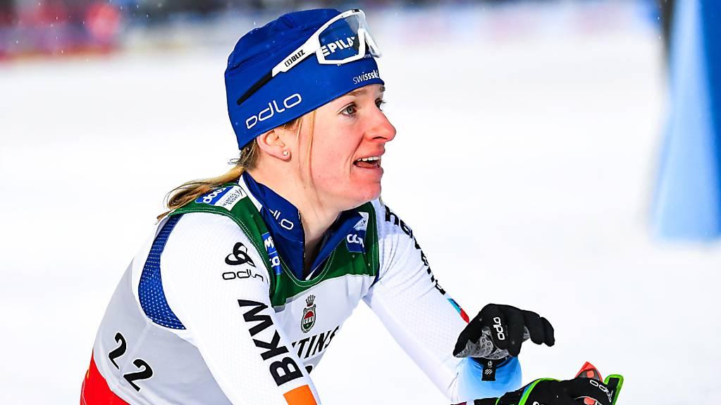 Bis auf die Ziellinie um den Sieg gekämpft: Nadine Fähndrich belegte mit Laurien van der Graaff im Teamsprint den 2. Platz