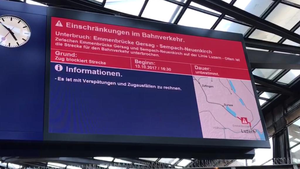 Der Bahnverkehr läuft wieder planmässig
