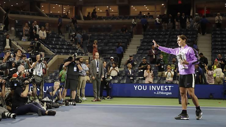In der Tennis-Arena von Flushing Meadows werden 350 Betten installiert