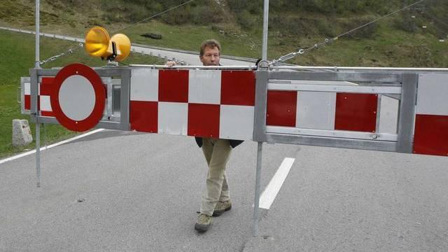 Verkehrsbarriere zum Gottardpass in Hospental (Symbolbild)