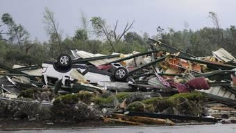 Diesen Schaden richteten die Tornados im Süden der USA an