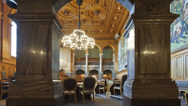 Fèr az-Chefredaktor Christian Dorer steht fest: Die Aargauer Vertretung im Ständeratssaal im Bundeshaus in Bern wird so oder so bürgerlicher. (Archiv)