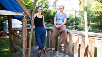 Sabrina Christ und Michael Roher sind ab nächster Woche auf dem Spielplatz im Heidenhubelquartier anzutreffen.