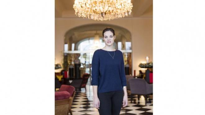 Regula Mühlemann ist halb in Luzern, hier im Hotel Palace, und halb in der grossen Opernwelt zu Hause. Foto: Mischa Christen