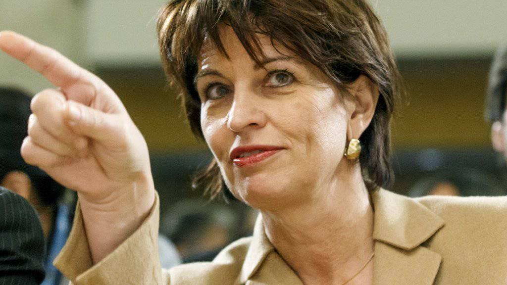 Wissen, in welche Richtung man geht: Doris Leuthard wünscht sich eine grundlegende Europa-Abstimmung.