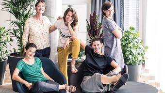Das Autorinnen-Quintett von «Vorbild und Vorurteil»: Marianne Meier, Jeannine Borer, Seraina Degen, Corinne Rufli und Monika Hofmann (von links oben im Uhrzeigersinn).