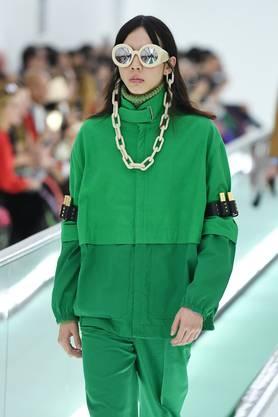Die Farbe ist Programm: Gucci-Präsentation vergangenen Sonntag. Bild: Getty Images