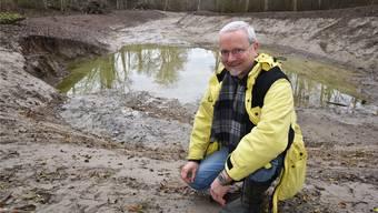 Jonas Lüthy brachte die Schaffung des Biotops beim Altlauf der Aare zwischen Schönenwerd und Aarau ins Rollen