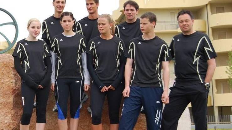 Roger Gubler, rechts, mit seiner Laufgruppe.