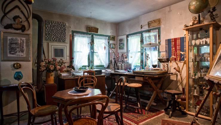 Ehemaliges Atelier von Alexander Zschokke, gegenwärtiges Atelier des Steinbildhauers Joseph Bossart.