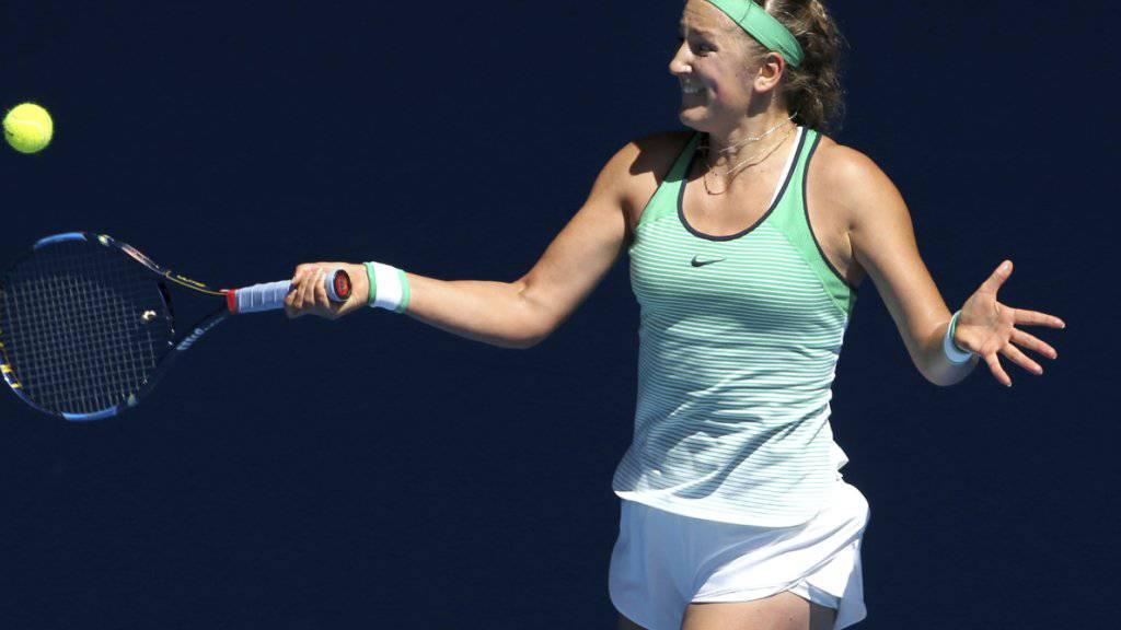 Viktoria Asarenka konnte sich zuletzt kaum aufs Tennisspielen konzentrieren