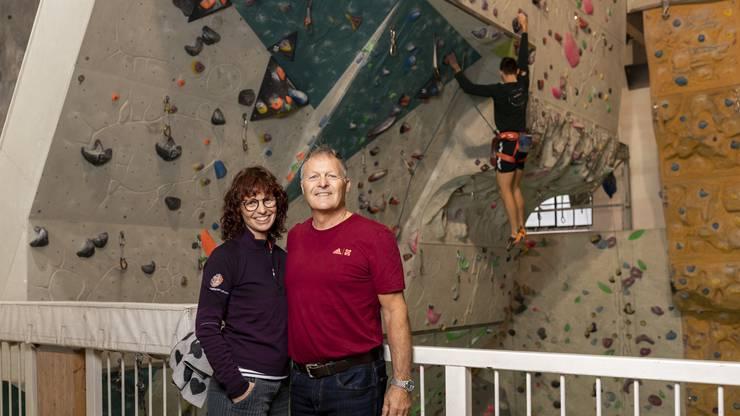 Patricia und Patrick Hilber könnten ohne das Klettern nicht mehr leben. Es sei besser als jede Physiotherapie, versichert sie.