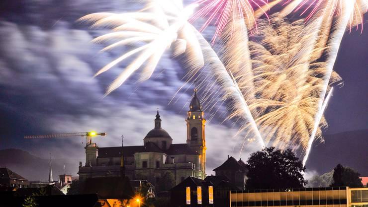 Am 1.August wird Feuerwerk gezündet. Wie hier in Solothurn. (Archiv)