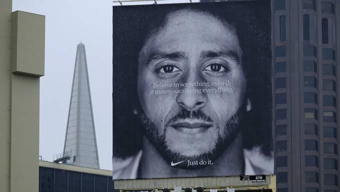 Kaepernick spielt seit fast drei Jahren kein Football mehr, trotzdem ist er ein grosses Aushängeschild von Nike.