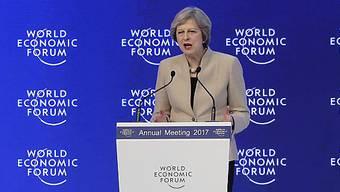 """Die britische Regierungschefin Theresa May strebt ein""""mutiges und ambitioniertes Handelsabkommen mit der EU"""" an."""