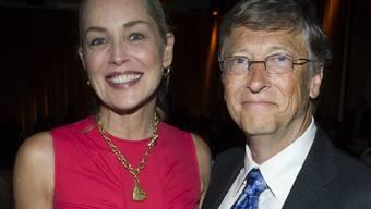 Sharon Stone und Bill Gates nahmen an der Konferenz teil
