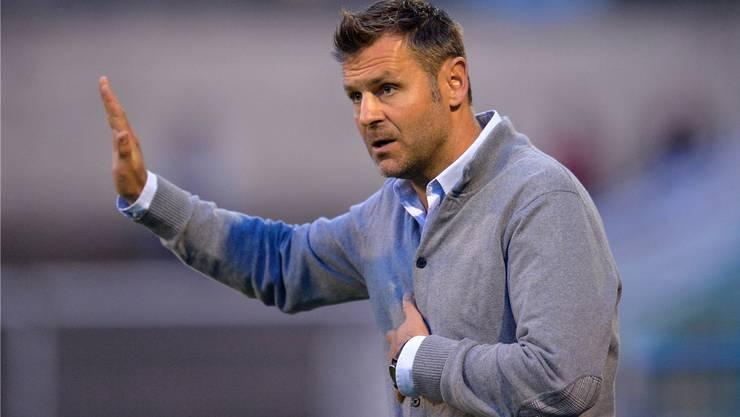 Badens Trainer Sven Christ hofft gegen Wangen auf drei Punkte.