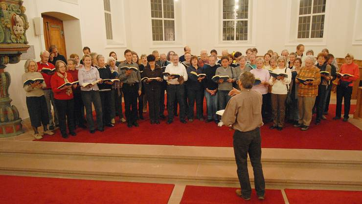 So sah es an einer früheren Probe des Chors der Stadtkirche Brugg aus. Wal/Archiv az