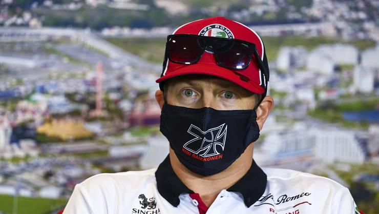 Kimi Raikkönen während einer Pressekonferenz vor dem Russland-Grand-Prix.