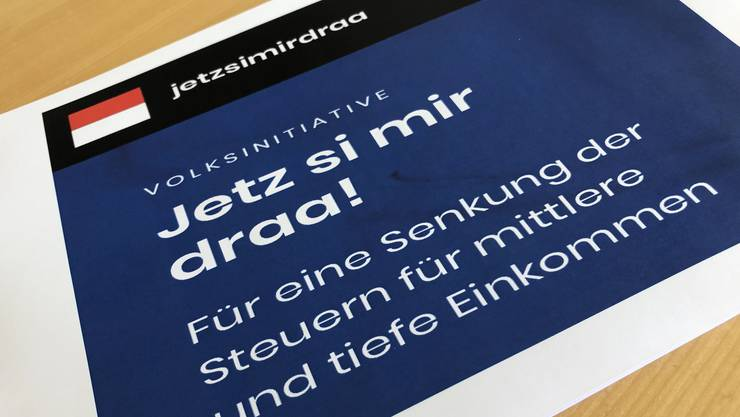 Die Volksinitiative «Jetz si mir draa!» verlangt ab dem Jahr 2023 eine Steuerbelastung der Einkommen, die maximal 20Prozent über dem Schweizer Durchschnitt liegt.