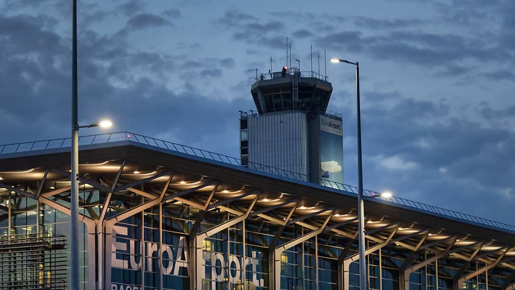 Der EuroAirport ausserhalb von Basel auf französischem Territorium im Elsass.