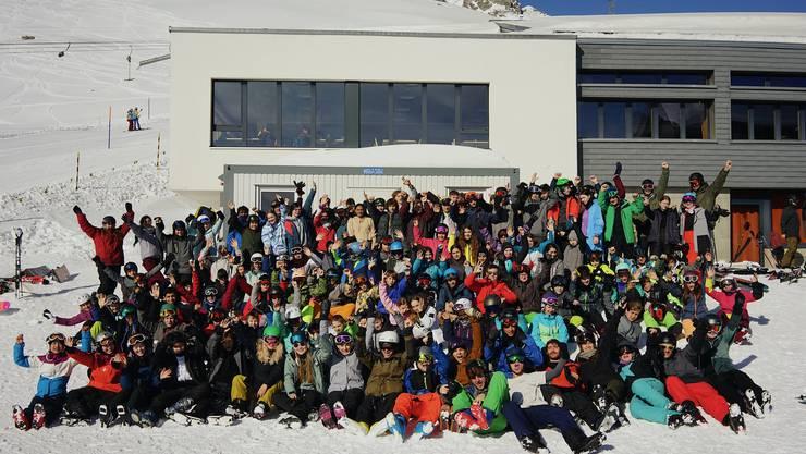 Alle Teilnehmenden des diesjährigen Schneesportlagers