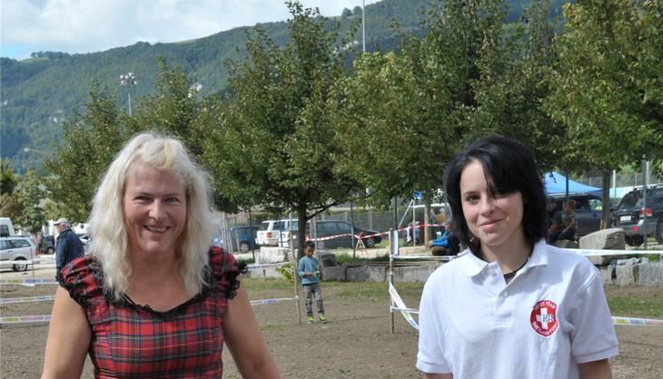 OK-Präsidentin Vreni Müller mit Tochter Jessica.