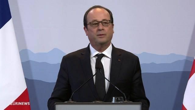 Präsident Francois Hollande zu Besuch in Bern