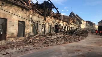 Bild der Verwüstung: Die Schäden in der zentralkroatischen Region Sisak-Moslavina sind gross.