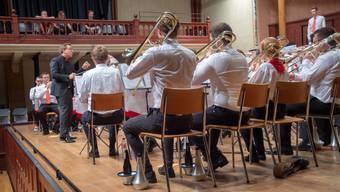 Die A-Band unter Jan Müller beim Abschlusskonzert im Solothurner Konzertsaal.