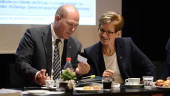Laut Finanzdirektor Anton Lauber tragen die Sparanstrengungen des Kantons so langsam Früchte