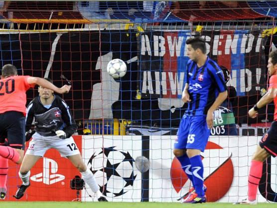 Fabian Frei trifft per Kopf zum 1:0