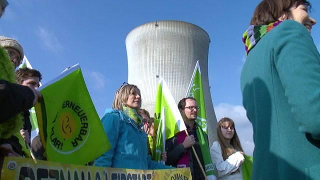 Grüne demonstrieren gegen AKW Leibstadt
