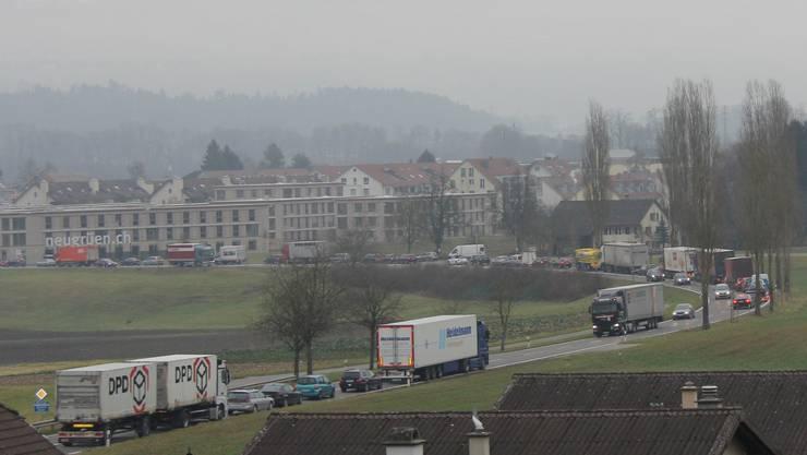 Stau zwischen Mägenwil und Mellingen (Archivbild).
